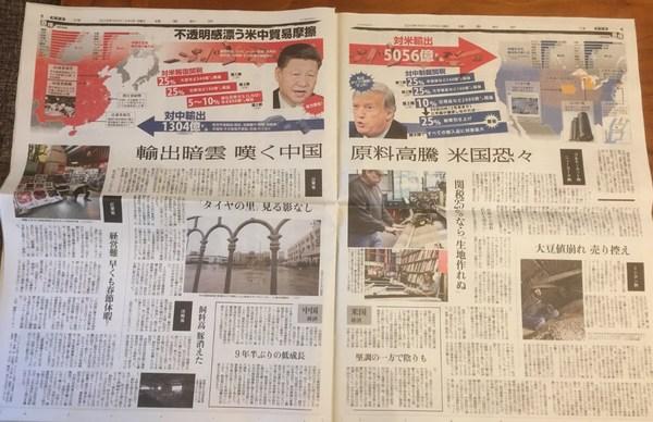 米中貿易摩擦、読売新聞2018年12月9日.jpg
